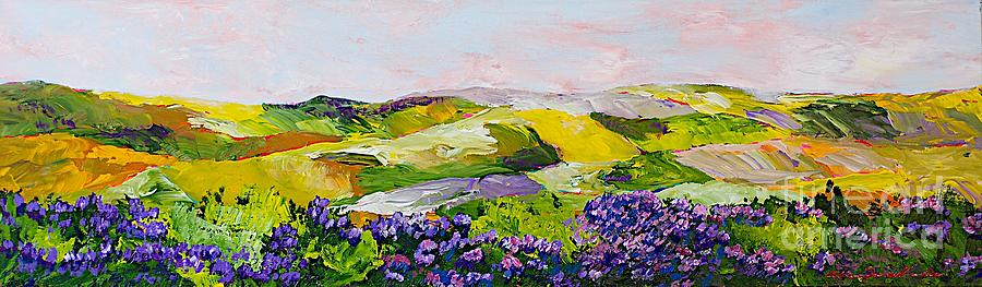 Violet Sunrise Painting