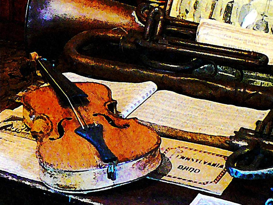 Violin And Bugle Photograph