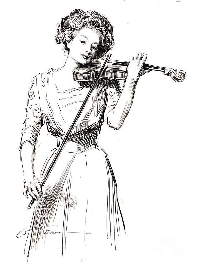Violinist 1910 Photograph