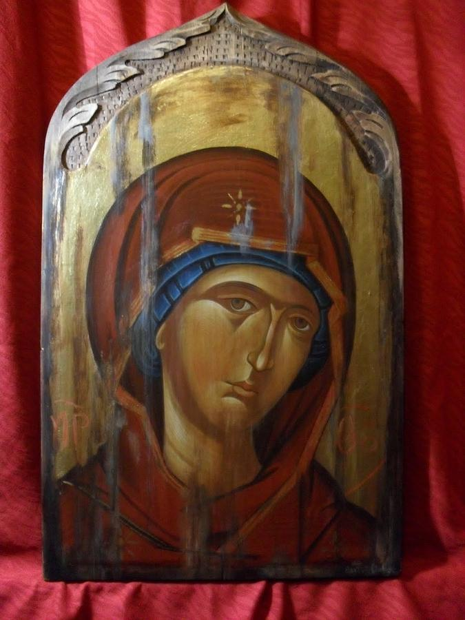 Virgin Mary Byzantine Icon Painting