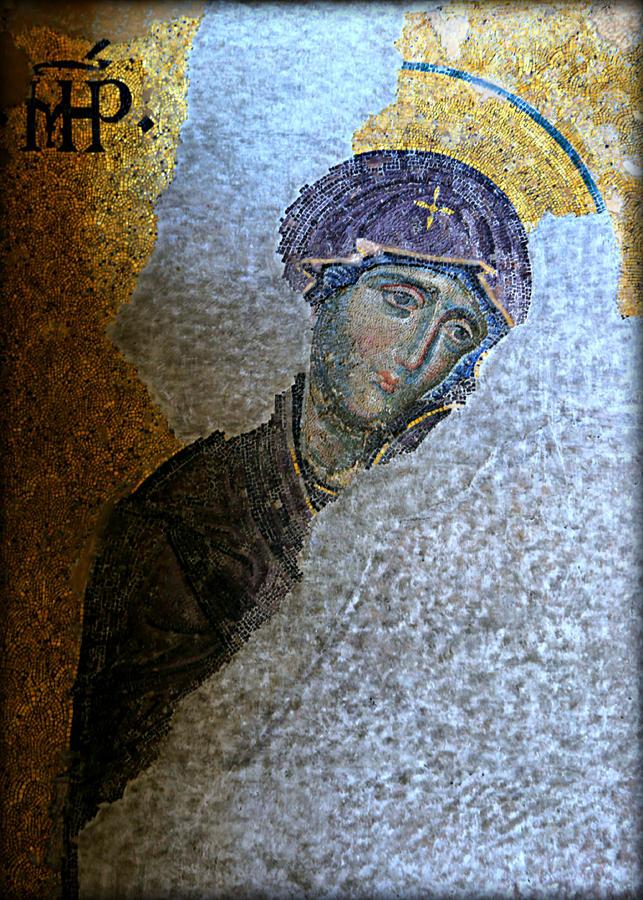 Hagia Photograph - Virgin Mary by Stephen Stookey
