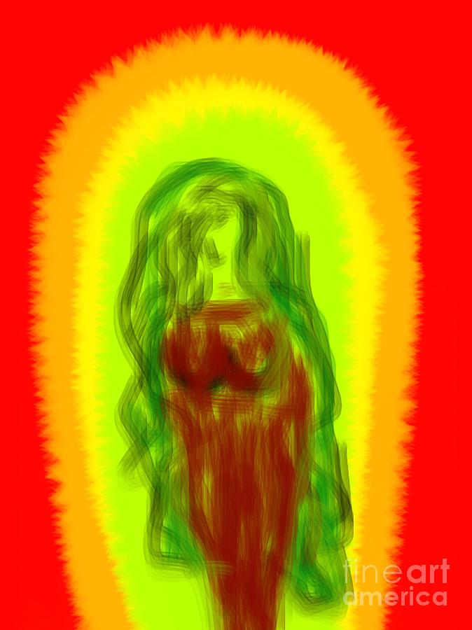 Virgin Of Seduction Digital Art  - Virgin Of Seduction Fine Art Print