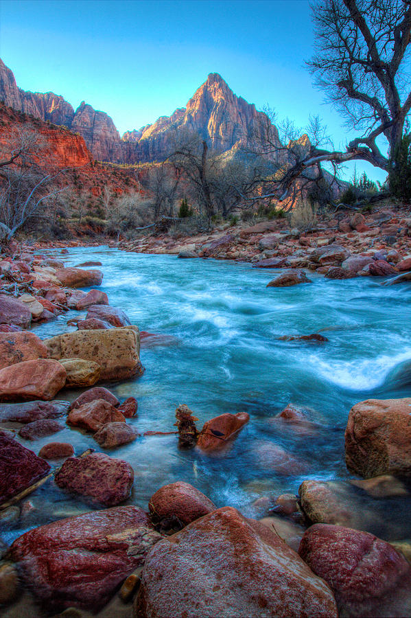 Virgin River Before The Watchman Photograph  - Virgin River Before The Watchman Fine Art Print