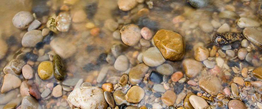 Virgin River Pebbles Photograph