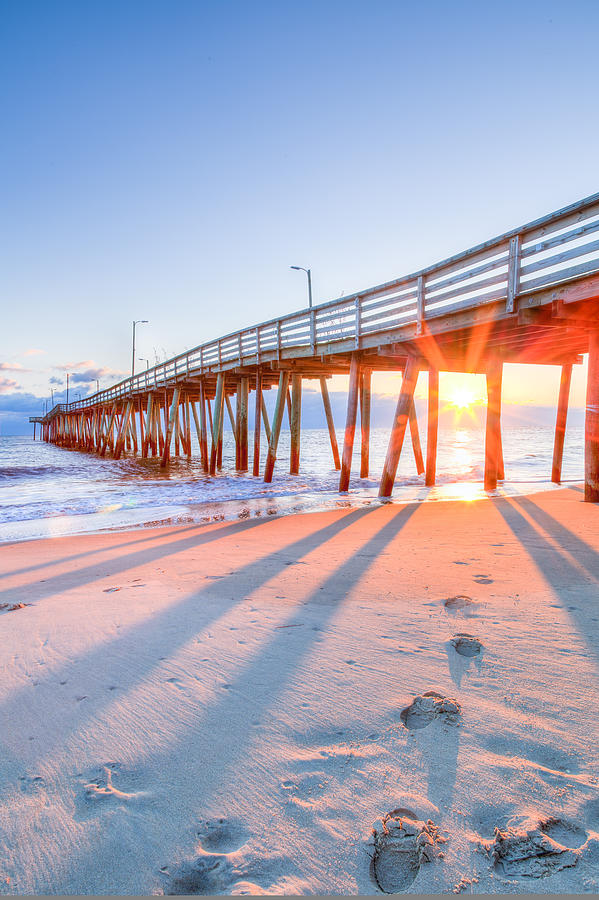Virginia beach fishing pier photograph by david cote for Fishing piers in va
