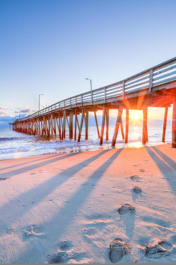 Virginia beach fishing pier photograph by david cote for Va beach fishing