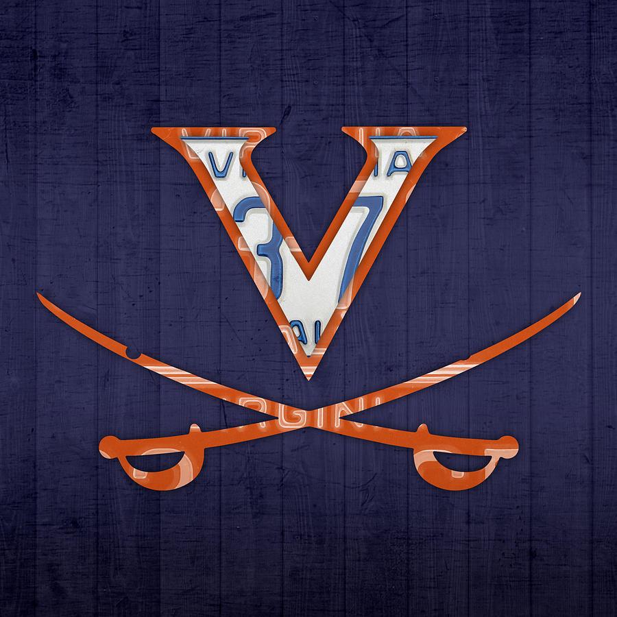 Virginia Cavaliers College Sports Team Retro Vintage