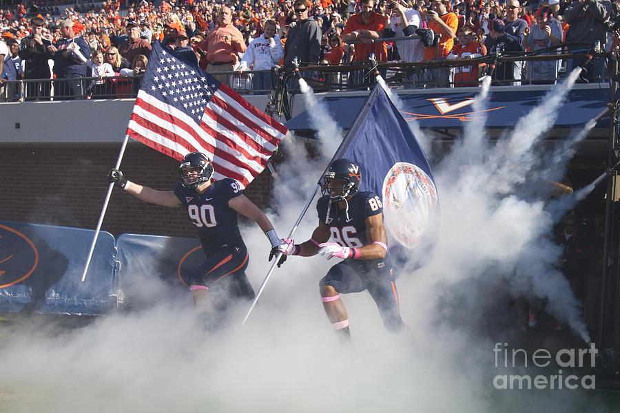 Virginia Cavaliers Football Team Entrance Photograph