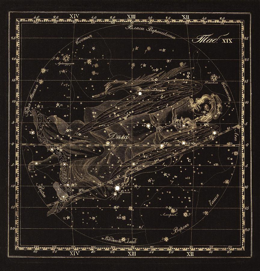 Virgo Constellation, 1829 Photograph