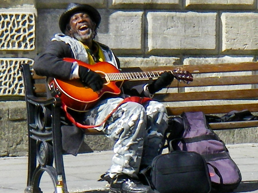 Vision Of Ecstasy From Itinerant Street Musician At Bath Somerset England Photograph