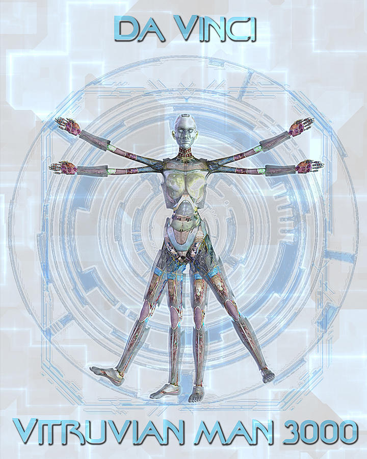 Vitruvian Man 3000 Digital Art
