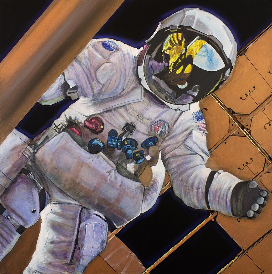 Vitruvian Man- Alan Bean.  Painting