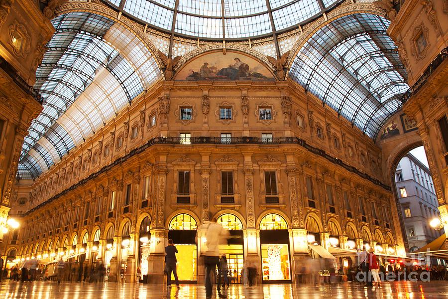 Milan Photograph - Vittorio Emanuele II Gallery Milan Italy by Michal Bednarek