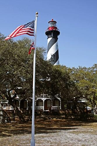 St Photograph - Viva Florida - The St Augustine Lighthouse by Christine Till