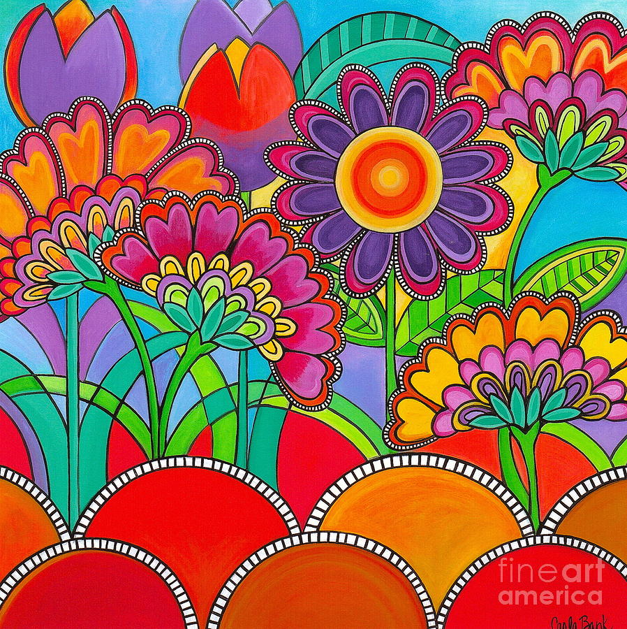 Flowers Painting - Viva La Spring by Carla Bank