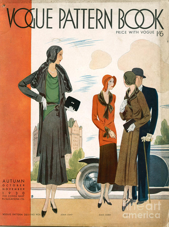 Vogue Pattern Book Cover 1930 1930s Uk Drawing