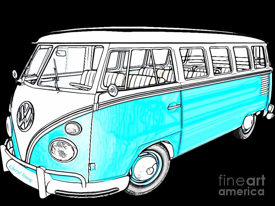 Volkswagen Turquoise Photograph