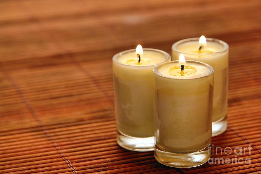 Votive Candle Burning Photograph