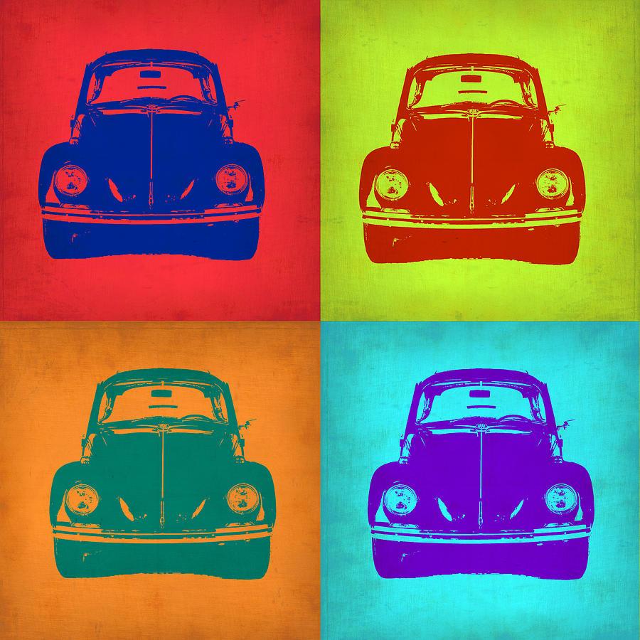 Vw Beetle Painting - Vw Beetle Pop Art 5 by Naxart Studio
