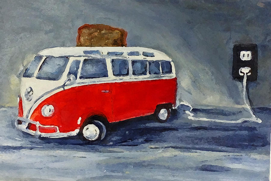 Vw Bus Toaster Painting