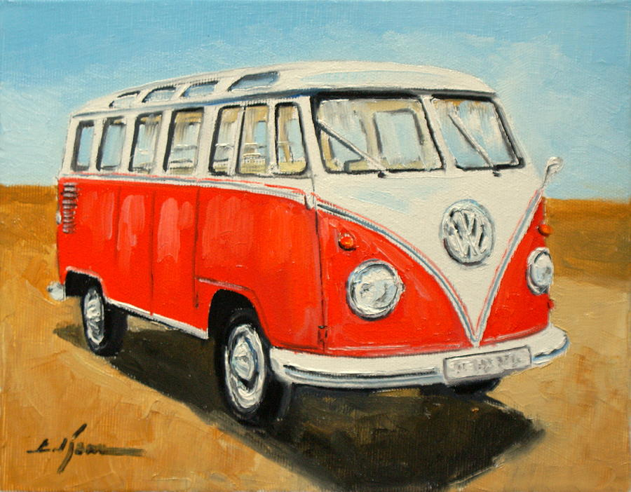 Vw Transporter T1 Painting  - Vw Transporter T1 Fine Art Print