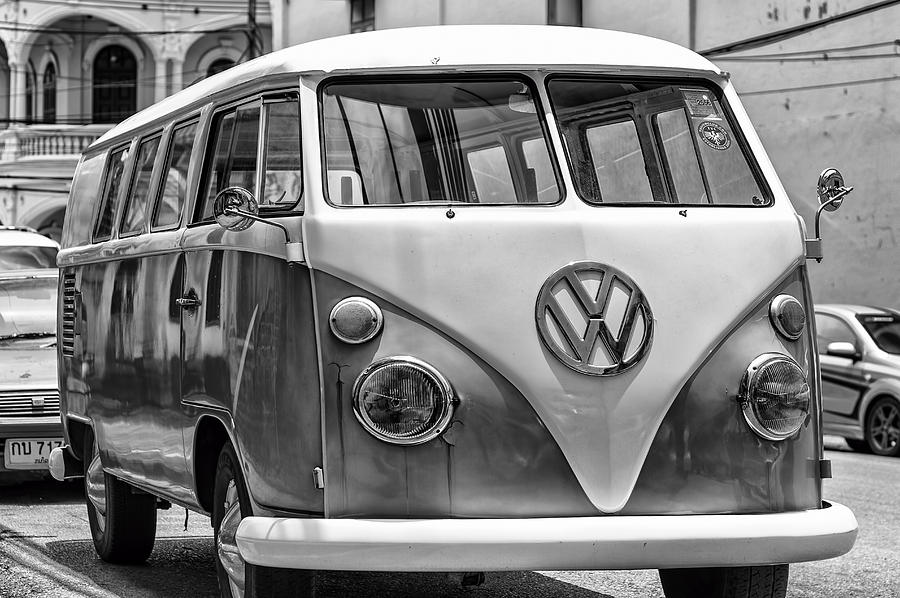 Vw Van In Black And White Photograph By Georgia Fowler