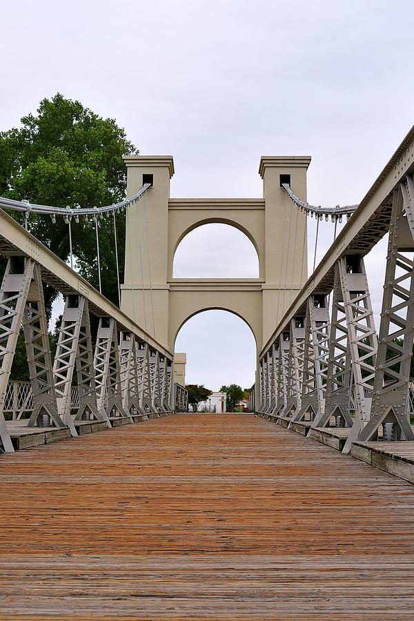 Waco Photograph - Waco Suspension Bridge by Christine Till