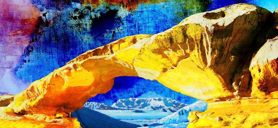 Wadi Rum Natural Arch Painting