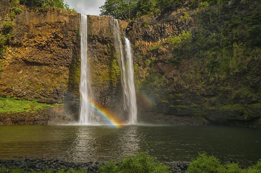 Wailua Falls Rainbow Photograph