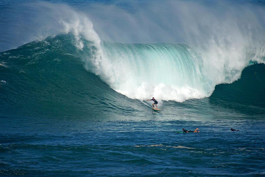 Waimea Bay Photograph - Waimea Bay Monster by Kevin Smith