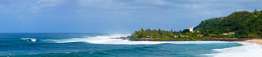 Waimea Bay Panorama Photograph  - Waimea Bay Panorama Fine Art Print