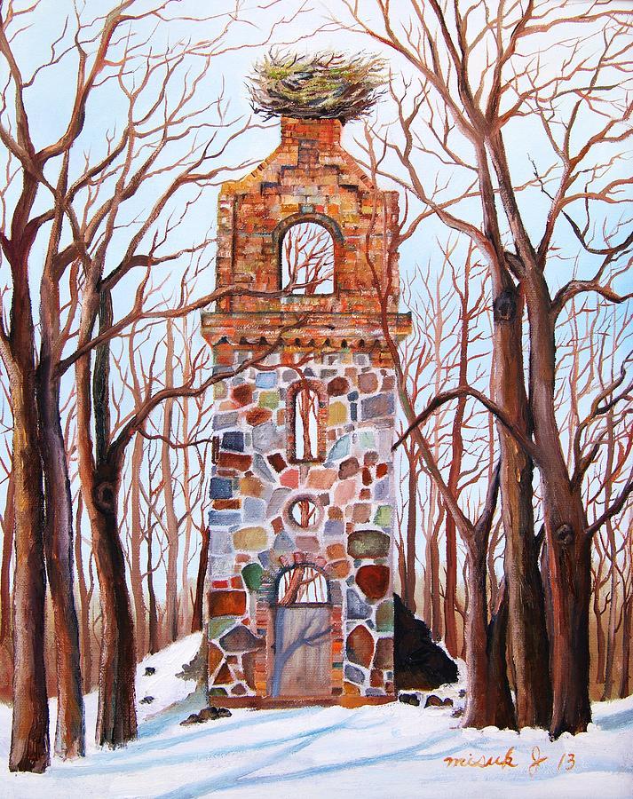 Waiting At Church Ruins  Painting