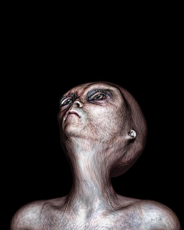 Alien Abduction Digital Art - Waiting by Bob Orsillo