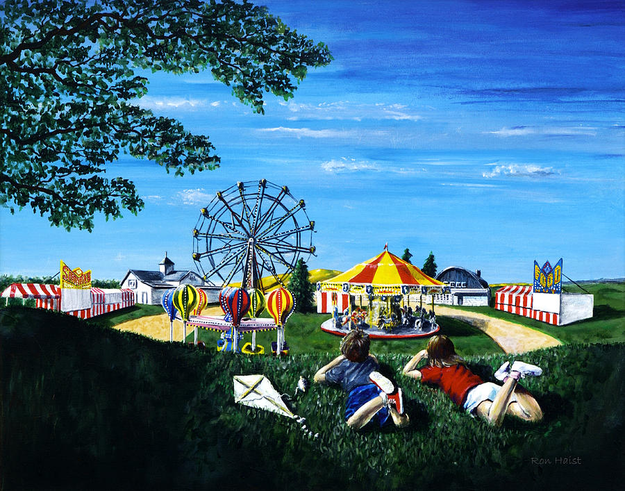 Waiting For The Fair Painting  - Waiting For The Fair Fine Art Print
