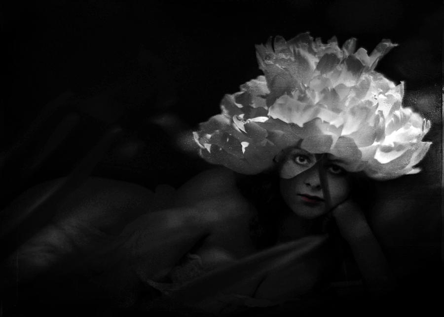 Sensual Photograph - Waiting For You In The Night Garden by Rebecca Sherman