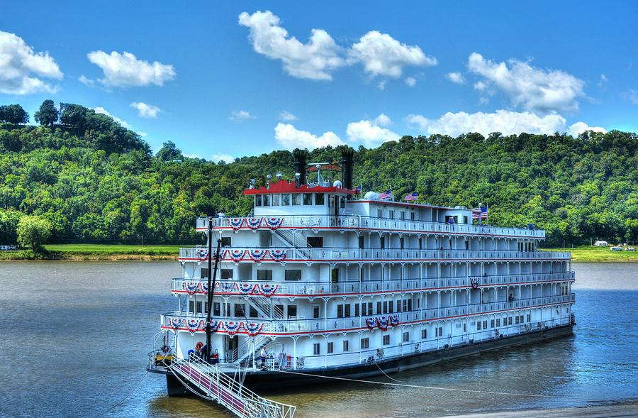 Riverboats Photograph - Waiting On The Levee by Tri State Art
