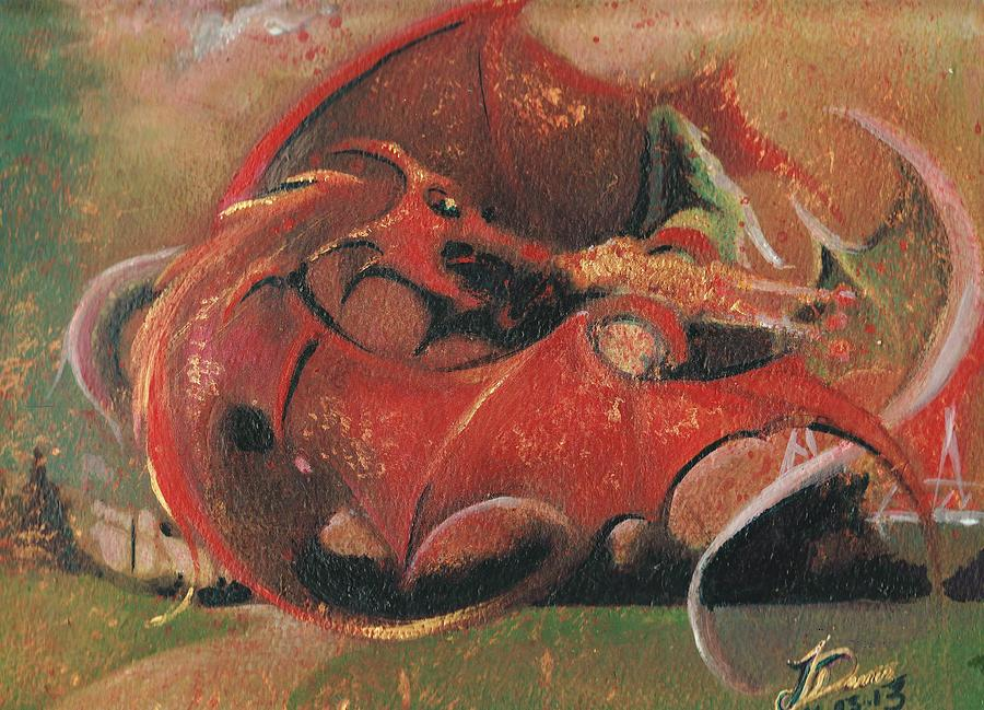 Wales Painting - Wales Vs England  by Jessica Davies