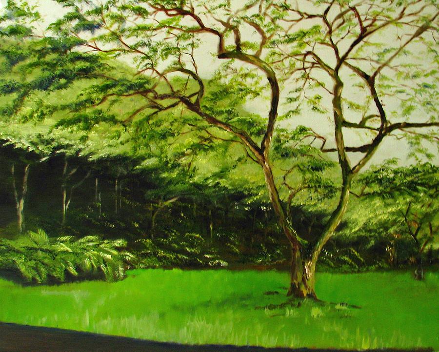 Walk In Waimea Valley Painting