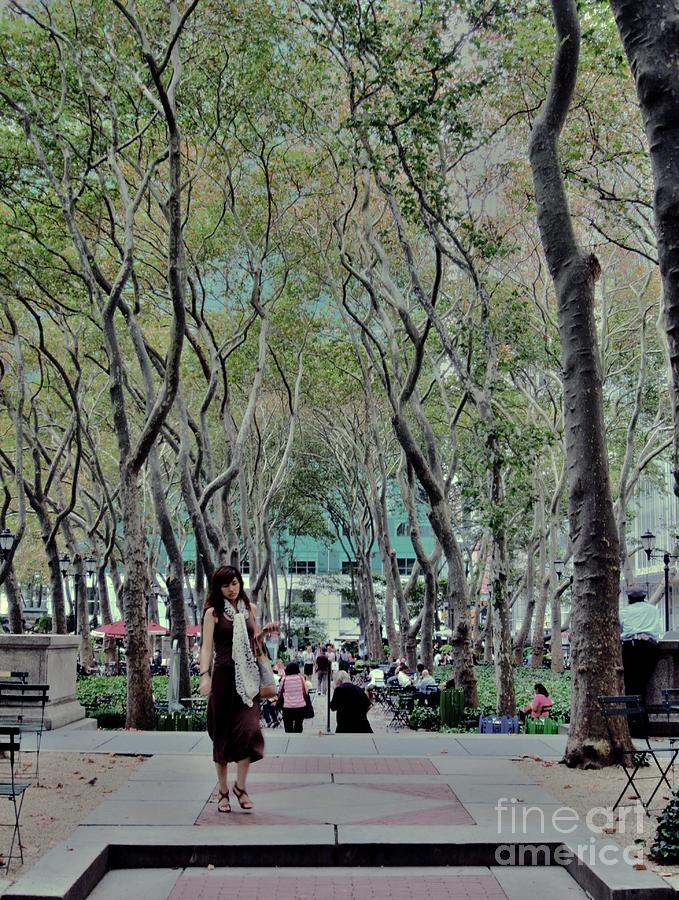 Walk Through Bryant Park Photograph  - Walk Through Bryant Park Fine Art Print