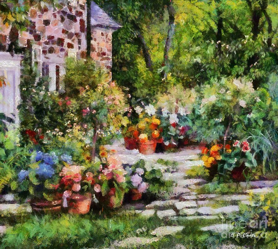Walk through the garden painting by elizabeth coats - When you walk through the garden ...