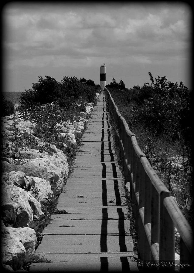 Path Photograph - Walk To The Light by Terri K Designs