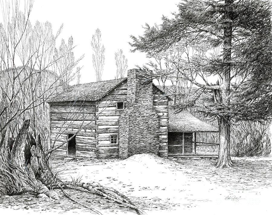 Walker Sisters 39 Farm House Drawing By Bob George