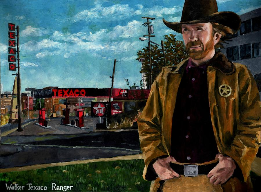 Walker Texaco Ranger Painting  - Walker Texaco Ranger Fine Art Print