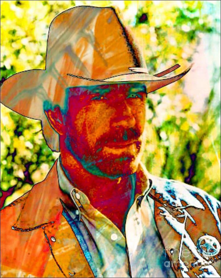 Walker Texas Ranger Digital Art