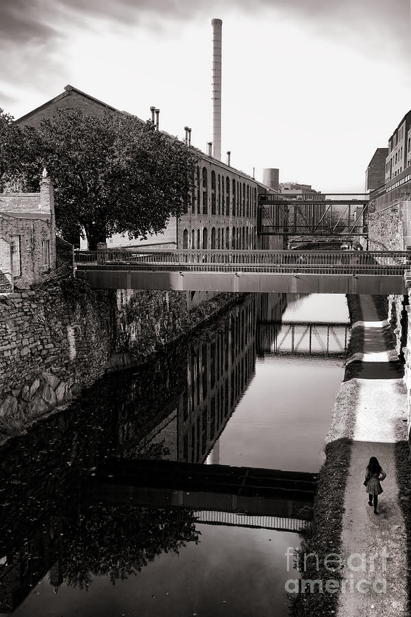 Georgetown Photograph - Walking Along The C And O by Olivier Le Queinec