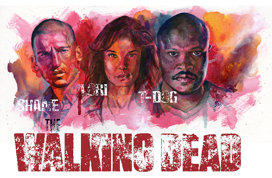 Walking Dead Painting - Walking Dead Dead by Ken Meyer jr