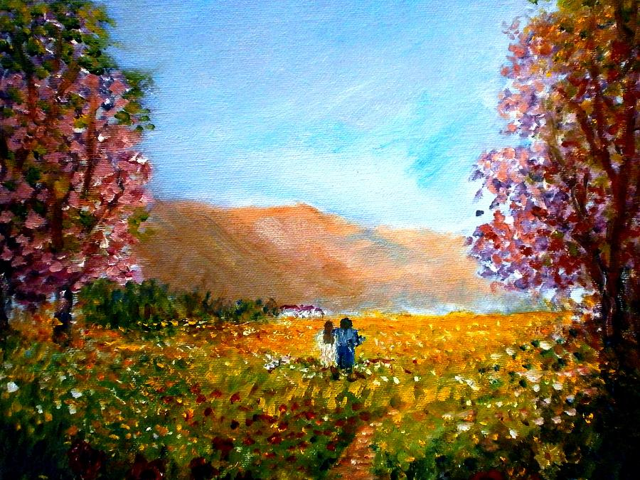 Walking Into The Springfields Painting  - Walking Into The Springfields Fine Art Print