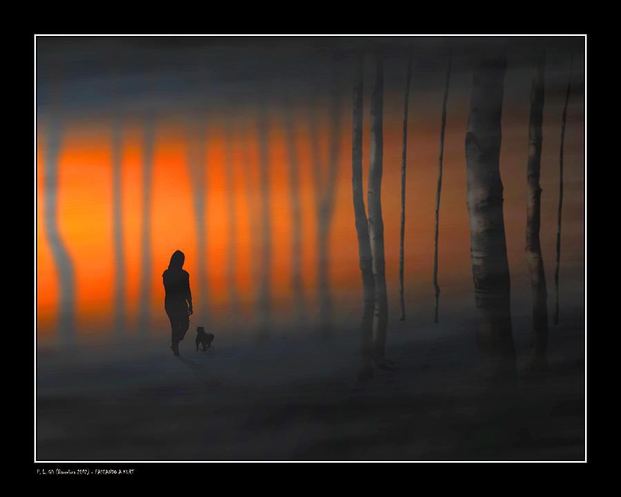 Walking Kurt Digital Art