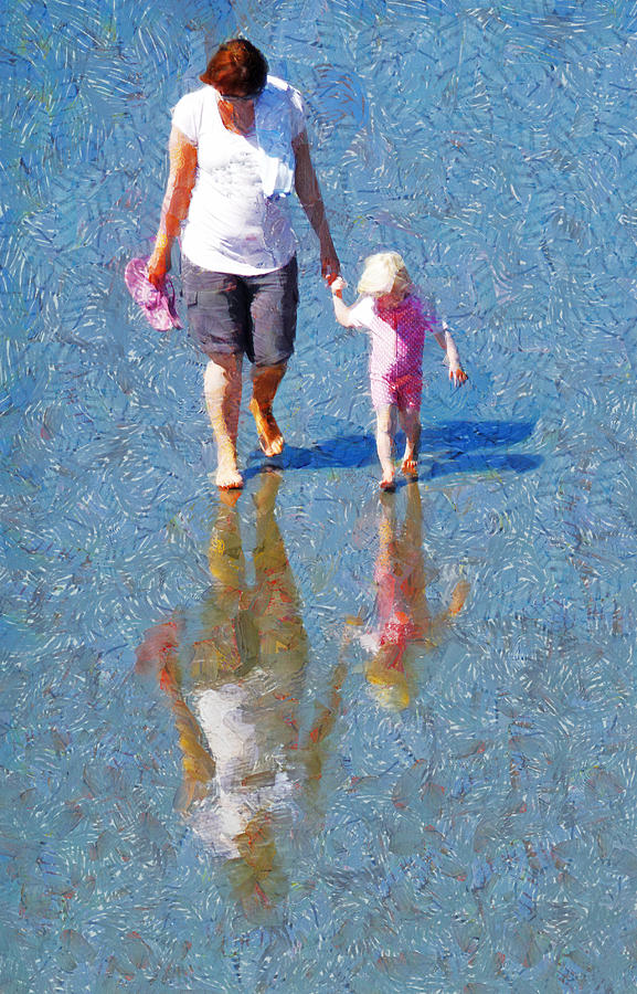 Walking On Water Photograph - Walking On Water by Steve Taylor