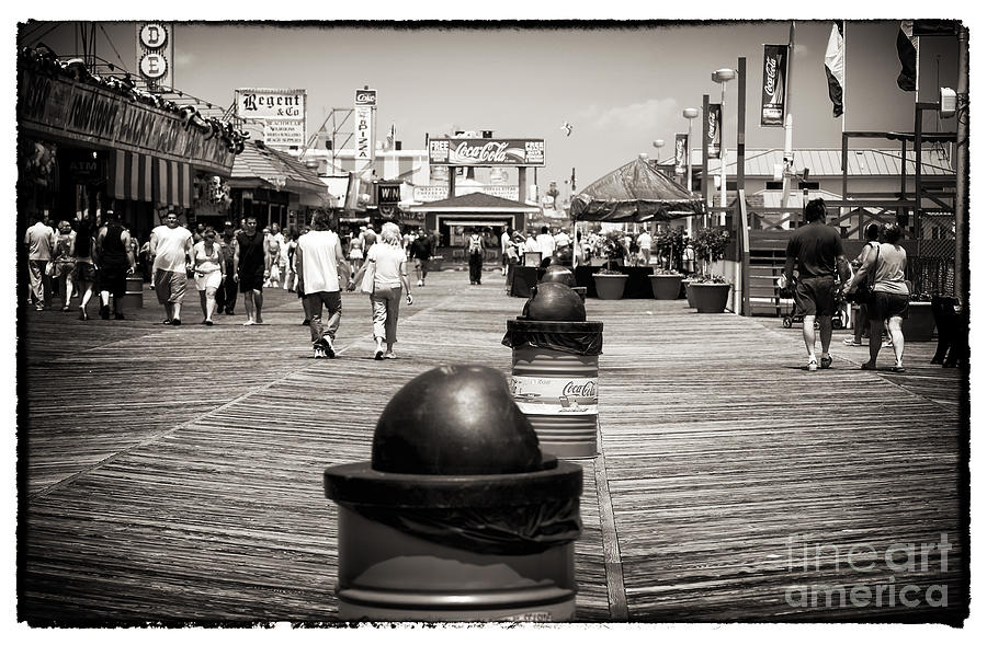 Walking The Boardwalk Photograph